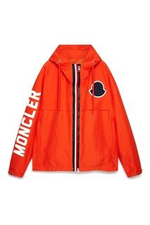 Оранжевая куртка с логотипом Moncler