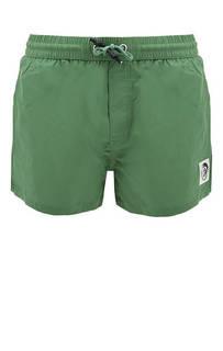 Зеленые купальные шорты с карманами Diesel