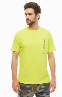 Хлопковая футболка с карманом и вышивкой Diesel