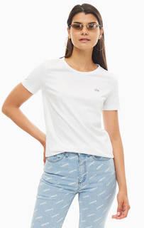 Базовая футболка из хлопка белого цвета Lacoste