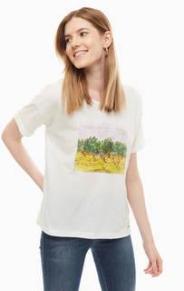 Трикотажная футболка оверсайз с принтом Tom Tailor Denim
