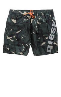 Купальные шорты камуфляжной расцветки Diesel