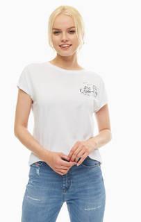 Белая футболка с круглым вырезом Mavi