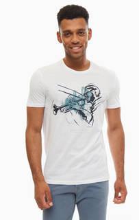 Белая хлопковая футболка с короткими рукавами Mavi