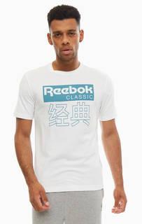 Хлопковая футболка белого цвета Reebok Classic