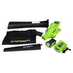 Аккумуляторная воздуходувка Greenworks