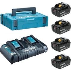 аккумулятор с зарядным устройством Makita Набор аккумуляторов и зу в кейсе Makita 198094-8