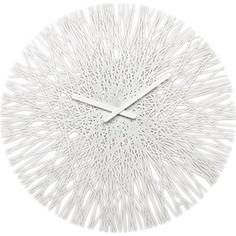 Часы настенные белые Koziol Silk (2328525)