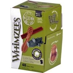 Лакомство Whimzees Variety Box S МИКС (палочки/ щетки/ крокодильчики) для собак S 48шт в коробке (WHZ571)