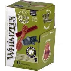 Лакомство Whimzees Variety Box M МИКС (палочки/ щетки/ крокодильчики) для собак М 24шт в коробке (WHZ572)