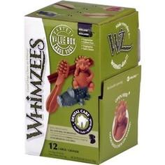 Лакомство Whimzees Variety Box L МИКС (палочки/ щетки/ крокодильчики/ ежики) для собак L 12шт в коробке (WHZ573)