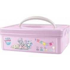 Коробка Бытпласт Универсальная С Ручкой С Аппликацией Me To You 245х160х82 Мм (Розовый)