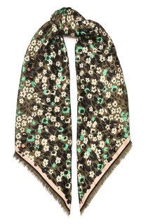 Платок из смеси шелка и шерсти Fendi