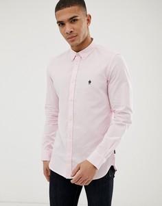 Оксфордская рубашка с длинными рукавами French Connection - Розовый