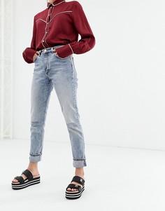 Джинсы в винтажном стиле Monki - Синий