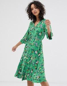 Платье миди с цветочным принтом Finery Daniella - Зеленый