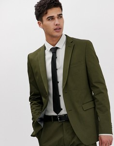 Приталенный пиджак цвета хаки Esprit - Зеленый