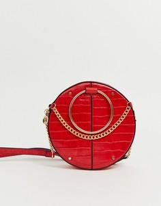 Красная круглая сумка через плечо River Island - Красный