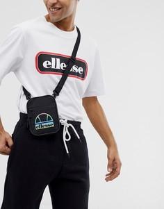 Черная маленькая сумка с логотипом ellesse - Nevo - Черный
