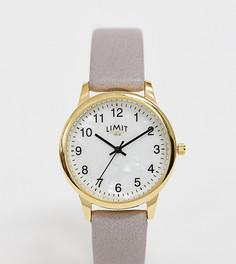 Часы с ремешком из искусственной кожи серого цвета Limit - Серый