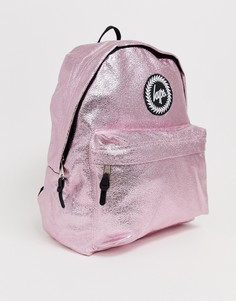 Сумка-рюкзак с эффектом металлик Hype - Розовый