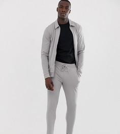 Серый спортивный костюм с курткой Харрингтон и укороченными джоггерами скинни ASOS DESIGN Tall - Серый