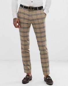 Супероблегающие брюки в классическую клетку Twisted Tailor - Рыжий