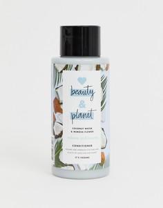 Кондиционер для придания объема волосам с кокосовым молоком и экстрактом цветков мимозы 400 мл Love Beauty and Planet Volume & Bounty - Бесцветный