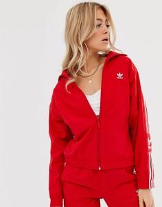 Красная спортивная куртка с логотипом adidas Originals - Locked Up - Красный