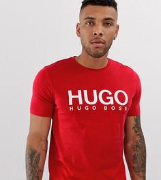 Красная футболка с логотипом HUGO Dolive - Красный
