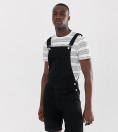 Черный джинсовый комбинезон с шортами ASOS DESIGN Tall - Черный