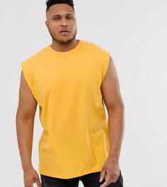 Желтая oversize-футболка с длинными рукавами ASOS DESIGN Plus - Желтый