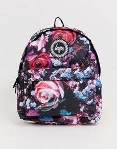 Сумка-рюкзак с цветочной отделкой Hype - Черный