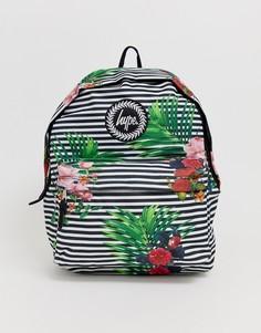 Сумка-рюкзак в полоску с цветочным узором Hype - Мульти
