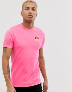 Розовая футболка с принтом на спине ellesse Cuba - Розовый