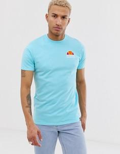 Синяя футболка с принтом на спине ellesse Cuba - Синий