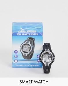 Мужские черные часы Challenger fitness - Черный