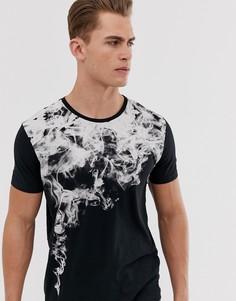 Черная футболка с принтом Esprit - Черный
