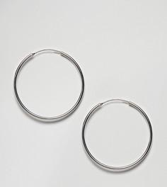 Большие серьги-кольца Weekday - Серебряный