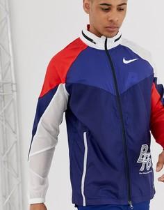 Синяя спортивная куртка Nike Running BRS pack - Синий