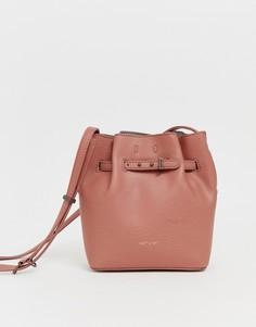 Небольшая сумка-мешок глиняного цвета Matt & Nat lexi - Серый