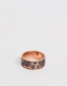 Кольцо-печатка с ацтекским принтом бронзового цвета Classics 77 - Коричневый