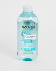 Очищающая мицеллярная вода 400 мл для жирной кожи Garnier - Pure Active - Бесцветный