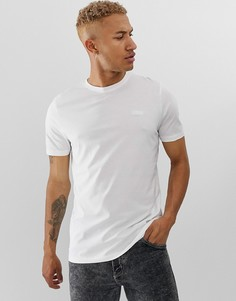 Белая футболка с вышитым логотипом на груди HUGO Dero - Белый