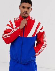 Красная спортивная куртка с 3 полосками и вставками adidas Originals - Balanta - Красный