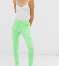 Неоново-зеленые джинсы скинни с завышенной талией Parisian Petite - Зеленый