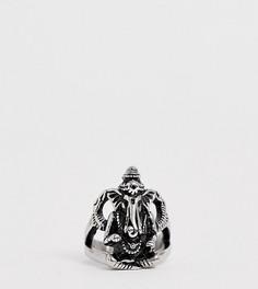 Серебристое массивное кольцо Reclaimed Vintage эксклюзивно для ASOS - Серебряный