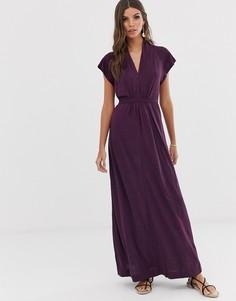 Платье макси в горошек French Connection - Callie - Темно-синий