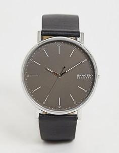 Часы с кожаным ремешком Skagen SKW6528 - Черный
