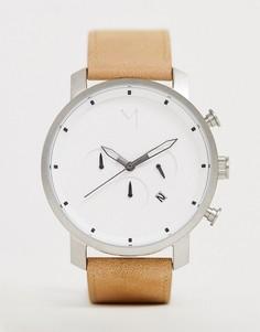 Часы с кожаным ремешком MVMT Chrono - Бежевый